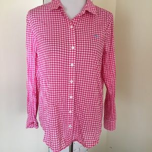 Vineyard Vines 10 Gingham Plaid Relaxed Button Up